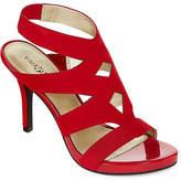 East Fifth east 5th Womens Joan Elastic Open Toe Stiletto Heel Pumps