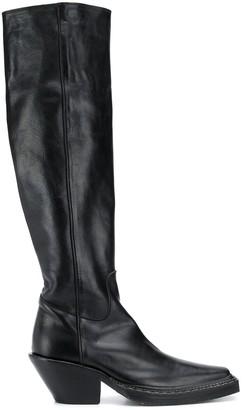 Acne Studios Western Knee Length Boots