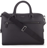 Michael Kors Men's Harrison Medium Front Zip Briefcase Black