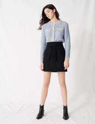 Maje Wrap mini skirt