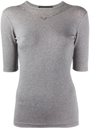 Fabiana Filippi metallic trim T-shirt