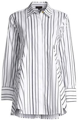 Donna Karan Stripe Tunic Shirt