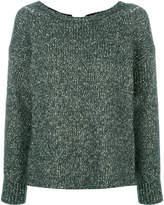 Humanoid round neck sweater