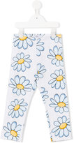 MonnaLisa daisy print leggings - kids - Cotton/Spandex/Elastane - 3 yrs