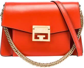 Givenchy Small GV3 Leather Bag in Dark Orange | FWRD