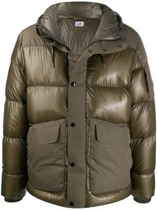 C.P. Company large flap pocket puffer jacket