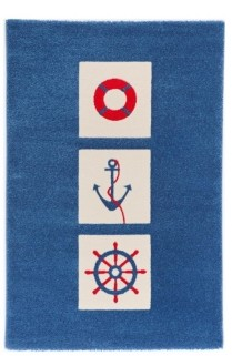 "IVI Mariner Soft Nursery Rug with a Playful Design - 90""L x 63""W Playmat"