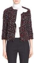 St. John Women's Polka Dot Ribbon Tweed Jacket