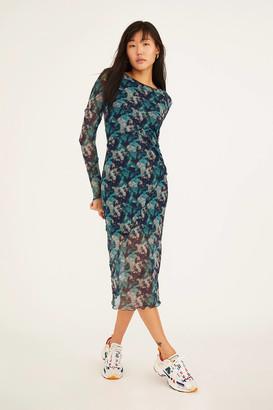 Urban Outfitters Tie-Dye Spliced Midi Dress