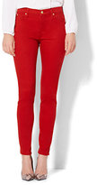New York & Co. Soho Jeans - Zip-Accent Legging - Red