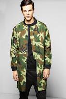 Boohoo Cotton Lined MA1 Longline Bomber Jacket