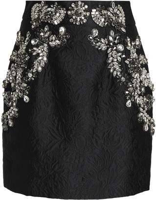 Dolce & Gabbana Crystal-embellished Matelasse Mini Skirt