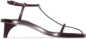 Jil Sander T-bar 45mm leather sandals