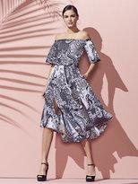 New York & Co. Tie-Waist Paisley Wrap Skirt