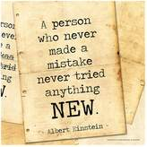 "Art.com A Person Who Never Made A Mistake"" Wall Art Print"