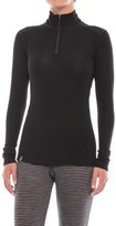Ibex Woolies 1 Base Layer Zip Turtleneck - Merino Wool, Long Sleeve (For Women)