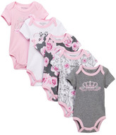 Juicy Couture Short Sleeve Bodysuits - Pack of 5 (Baby Girls)