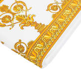 Versace Barocco & Robe Flat Sheet - 270x300cm - White/Gold