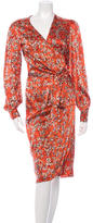 Blumarine Silk Wrap Dress