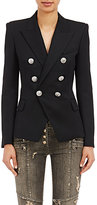 Balmain Women's Double-Breasted Blazer-BLACK