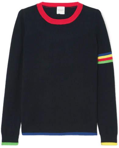 Madeleine Thompson Neptune Striped Cashmere Sweater - Navy