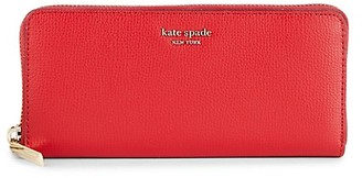 Kate Spade Pebbled Leather Zip-Aound Long Wallet
