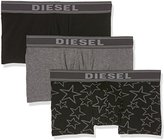 Diesel Men's 3-Pack Shawn Solid/Star Print Cotton Stretch Trunk