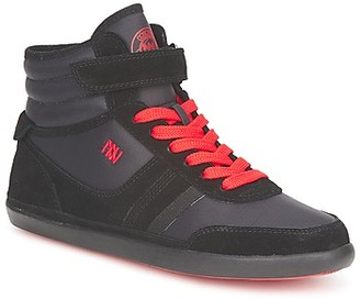 Dorotennis MONTANTE STREET LACETS + VELCRO women's Shoes (High-top Trainers) in Black