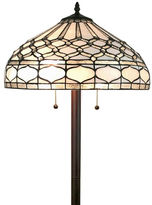 AMORA Amora Lighting AM222FL18 Tiffany style royal white floor lamp 62 inches tall