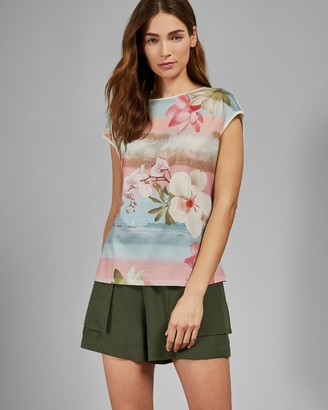Ted Baker LARNAH Mint Choc Chip woven front T-shirt