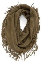 BP Women's Rib Knit Fringe Infinity Scarf