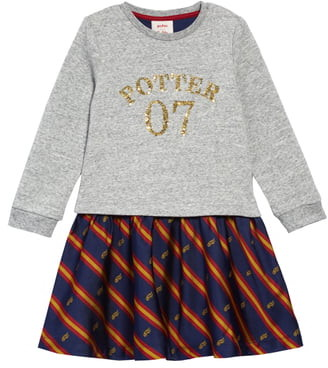Boden Mini Harry Potter Sequin Seeker Dress