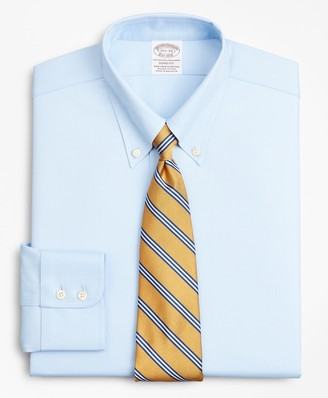 Brooks Brothers Stretch Soho Extra-Slim-Fit Dress Shirt, Non-Iron Royal Oxford Button-Down Collar