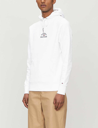 Tommy Hilfiger Brand-embroidered cotton-jersey drawstring hoody