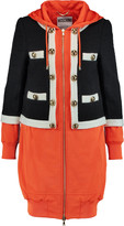 Moschino Paneled wool-blend and jersey coat
