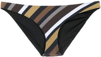 Ganni Striped Print Bikini Bottoms