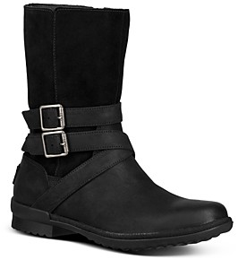 UGG Women's Lorna Round Toe Leather Boots