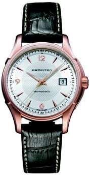 Hamilton Jazzmaster Viewmatic Auto Rose-Goldtone Stainless Steel& Embossed Leather Strap Watch