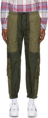 John Elliott Green Paneled Nylon Cargo Pants