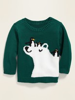 Old Navy Polar Bear & Penguins Graphic Sweater for Baby