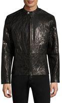 John Varvatos Slim-Fit Carbon Leather Jacket
