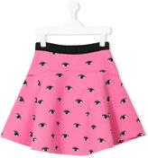 Kenzo teen Eyes print skirt - kids - Cotton/Polyamide/Spandex/Elastane - 14 yrs
