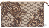 MICHAEL Michael Kors Printed Textured-Leather Clutch