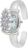 Charter Club Women's Silver-Tone Snowflake Cuff Bracelet Watch 29mm, Only at Macy's