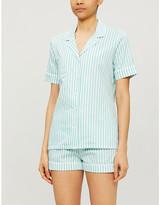 Derek Rose Shortie cotton pyjama set