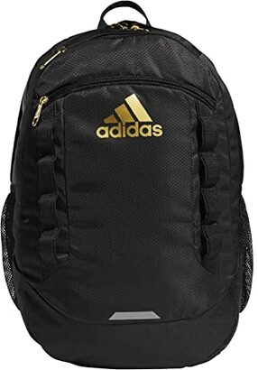 adidas Excel V Backpack (Looper Black/Onix/Black/Signal Green) Backpack Bags