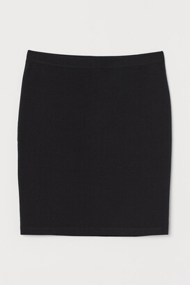 H&M Short Jersey Skirt - Black