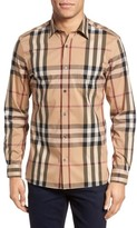 Burberry Men's Nelson Check Sport Shirt