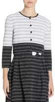 Carolina Herrera Striped Wool & Silk Cardigan