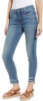 7 For All Mankind Jen7 By High Waist Fringe Hem Ankle Skinny Jeans